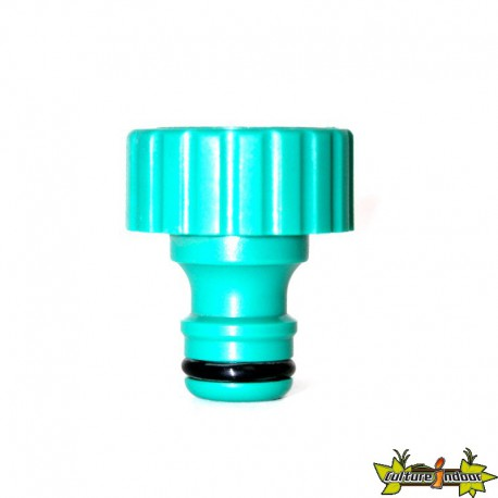 Connector right end cap screw-on for irrigation system 16 mm